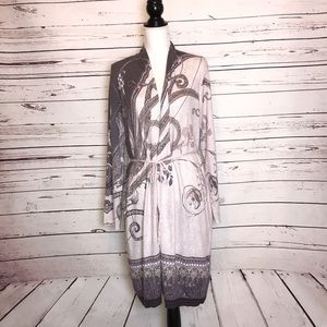 Chicos Long open front duster cardigan